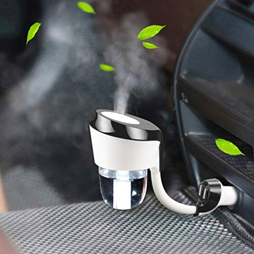 Vyaime Car Diffuser Humidifier, Essential Oil Aromatherapy Diffusers with Dual USB Charger Adapter, Ultrasonic Air Refresher Purifier for Vehicle Automobile(Black)