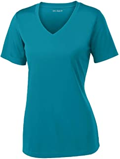 Women's Short Sleeve Moisture Wicking Athletic Shirts in Sizes XS-4XL