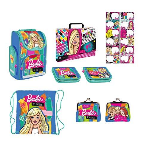Starpak Barbie and Friends 'be Unique' Schulranzen Set 7-teilig