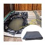 Teichfolie, Schutzunterlage Geomembran Karpfen Teich Wasserdicht Kunststoffband Liner Gartenpool Membran Umweltfreundliches HDPE, Anpassbar (Color : Black-0.6mm, Size : 1.5x2m)