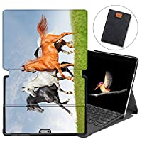 MAITTAO Case For Microsoft Surface Go 2018, Folio Smart Stand Cover with Pen Holder for Surface Go 10-inch Tablet Sleeve Bag 2 in 1, Compatible with Type Cover Keyboard, Akhal-Teke Horse 8