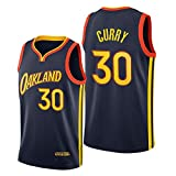 Dybory Camiseta Curry Swingman para Hombre, Golden State Warriors # 30 Camiseta Sin Mangas Curry Swingman City Edition Camiseta De Baloncesto,L