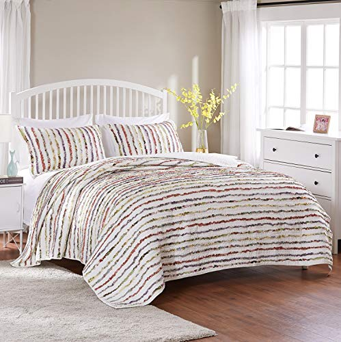 Greenland Home Bella Ruffled Quilt Set, 2-Piece Twin/Twin XL, Multi
