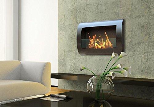 バイオエタノール暖炉 壁掛け Fireplace ブラック【並行輸入品】