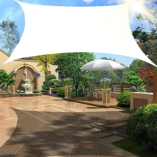 Rectángulo de vela de protección solar rectángulo de vela de protección solar resistente al agua toldo a prueba de viento toldo resistente a los rayos UV con kit de herrajes para cochera