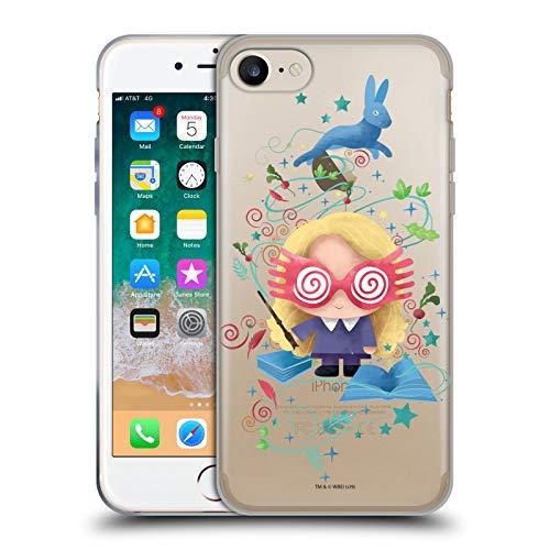 Head Case Designs Licenza Ufficiale Harry Potter Luna Lovegood Deathly Hallows II Cover in Morbido Gel Compatibile con Apple iPhone 7 / iPhone 8 / iPhone SE 2020