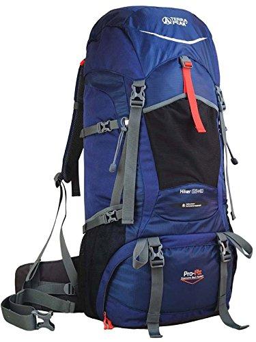 Terra Peak Hiker - Zaino, Blu (Navy/Dark Navy), 60 x 35 x 14 cm, 55 l