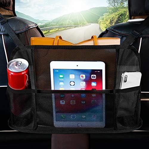 Car Net Pocket Handbag Holder Seat Back Net Bag Innovative 3 Layer Car Mesh Organizer Store product image