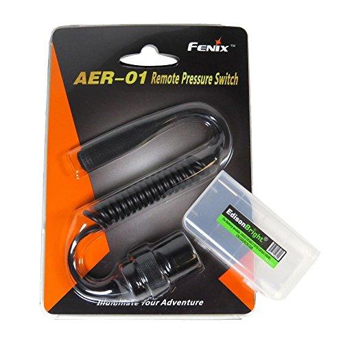 EdisonBright Fenix aer-01Fernbedienung Druck Schalter mit bbx3Akku Tragetasche für TK22Military neutralweiss tk15C tk15ue TK09PD35uc35aer01AR102