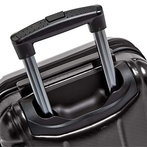 AmazonBasics Oxford Carry-On Expandable Spinner Luggage Suitcase with TSA Lock - 21.8 Inch, Black