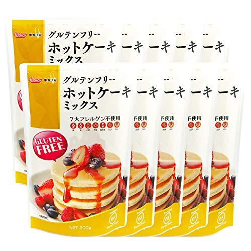 国産 グルテンフリー ホットケーキミックス 2kg( 200g × 10袋 ) 九州産 玄米粉