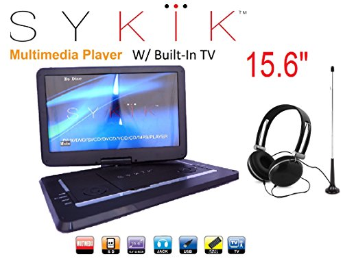 Best Review Of 15.6'' Inch TV/portable DVD All Multi Region Zone Free HD Swivel Portable DVD Player ...