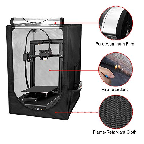 InLoveArts 3D Printer Tent Soundproof Waterproof Dustproof Fireproof Bag Constant Temperature Protective Cover Room Warm Enclosure Heating Box for Ender 3/Ender 3 Pro/Ender 5