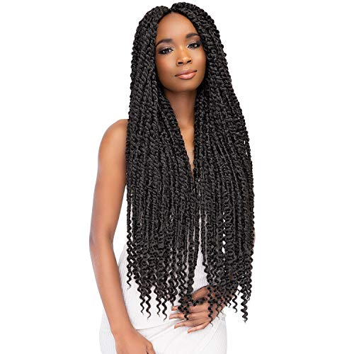 """MULTI PACK DEALS! Janet Collection Synthetic Hair Crochet Braids Nala Tress Passion Twist Braid 24"""" (5-PACK, 1B)"""