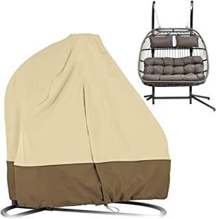 Hanging Egg Chair Cover Patio Egg Chair Cover Double Waterproof Oxford Outdoor Pod Chair Patio Swing Loveseat Egg Chair Co...
