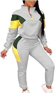 neveraway Women's Notch Collar Zip-Front Color Block Two Piece Sport Coat
