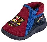 FC Barcelona - Zapatillas del FC Barcelona, colección oficial, talla de bebé, Bebé-Niñas, azul, 24
