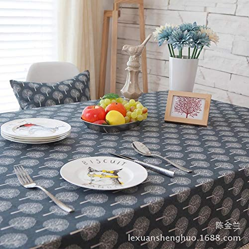 HTUO Tablecloth Christmas Decoration Stain Proof Waterproof Table Cover Washable Pastoral Style Simple Rectangle Table Cover Dining Christmas Party Buffet Decoration 60 * 60cm