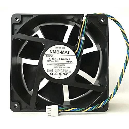 4715KL-04W-B46 DC12V 0.9A 12cm PWM large air volume fan 120x120x38mm 4-PIN
