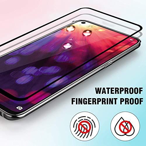 Ferilinso für Huawei Nova 4/ Honor View 20 Panzerglas Schutzfolie, [2 Stück] [Full Coverage] [Full Adhesive Glue] Blasenfrei gehärtetes Glas Schutzfolie (Schwarz) - 5