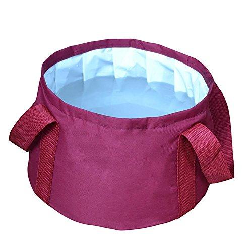 Ruirui-Outdoor Pliant Voyage Ultra léger Portable Seau d'Eau du Bassin lavabo avec Eau Chaude, Purple