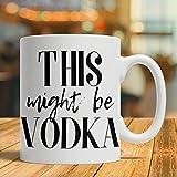 N\A Regalo de Vodka, Regalo de Amante del Alcohol, Taza de Vodka, Taza de café con Vodka