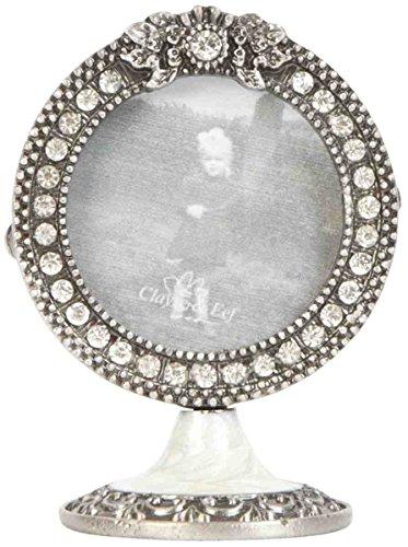 Clayre & Eef 2F0120 cornici portafoto con base argento colori diametro 4 cm
