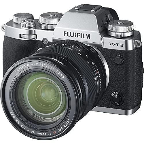Fujifilm X-T3 - Cámara Digital sin Espejo, color plata con Fujinon XF16-80mmF4 R WR Lente estabilizadora de Imagen óptica