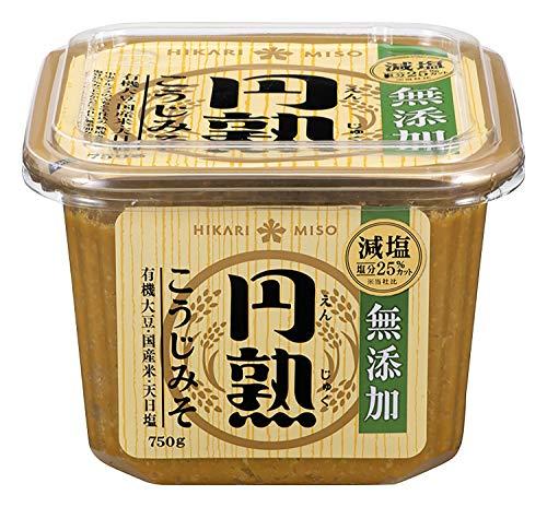 ひかり味噌 円熟こうじみそ 無添加減塩 750g