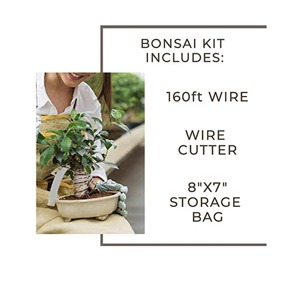 Leaves and soul tree training wire kit - 5 rolls (160ft) aluminum alloy bonsai plant training wire | wire cutter… 2 ✅ flexible but sturdy - our bonsai tree training wires are made of top-quality aluminum alloy, which is strong but easy to mold. They stand strong against rust and bends easily without breaking. ✅ meets different needs - this plant wire set has different sizes of training wires including 1. 0mm, 1. 5mm, 2. 0mm, 2. 5mm, and 3. 0mm wires, all with a length of 32 feet. Total of 160 feet of wire for all of your projects. They can also be used for handmade craft making, sculpture projects and jewelry making. ✅ cuts easily - our gardening kit comes with a high quality traditional bonsai wire cutter. This tool can cut the thickest aluminum wire effortlessly.