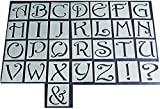 Alphabet Buchstaben Schablone mit Shabby-Chic, Vintage mit 45mm geschnitten