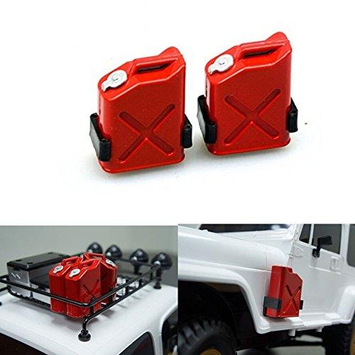 ZuoLan 2set 1/10 RC voiture Réservoir de carburant Bidon décoration pour Axial Wraith SCX10 AX10 Crawler Truck RC