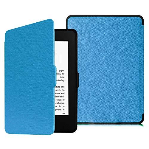 Fintie Hülle für Kindle Paperwhite - Die dünnste und leichteste Schutzhülle mit Auto Sleep/Wake Funktion (Nicht geeignet für das Modell der 10. Generation 2018), Blau