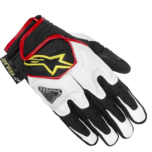 Alpinestars 1236792 Handschuhe weiß/schwarz/gelb/neongrün/rot, XL, 2er Set