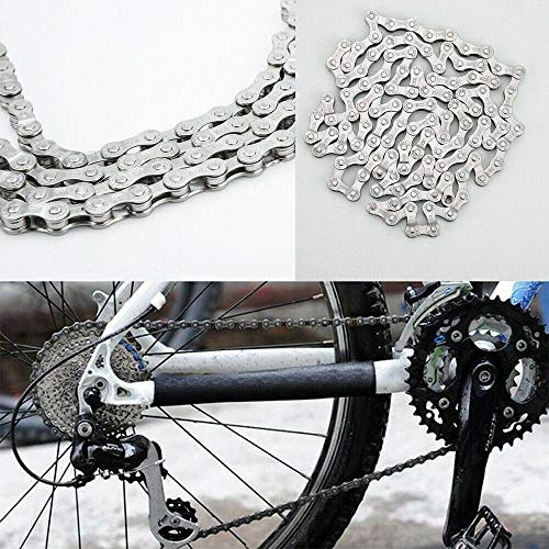 Find Discount ZoeDul Bicycle Chain 6-7-8 Speed 116 Links for MTB Mountain Road Bike Steel Chain