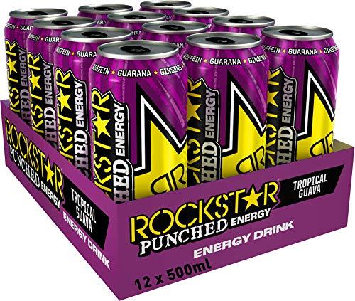 Rockstar Energy Guava 500ml, bebida energética – Pack de 12