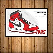 Sneaker Michael Jordan Shoes Fashion Aj History Air Max Art Painting Silk Canvas Poster Wall Home Decor 30 * 40Cm No Frame
