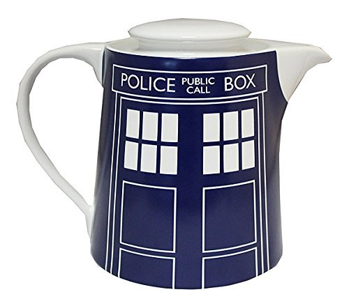 DOCTOR WHO Tardis Door Panel Tea Pot, Blue
