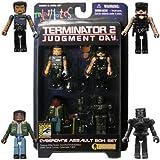 Art Asylum Diamond Select 2009 SDCC San Diego Comic-Con Exclusive Terminator T2 Minimates Cyberdyne Assault Box Set (Miles Dyson, Scorched Endoskeleton, SWAT Sarah Connor and Cybernetic T-800)