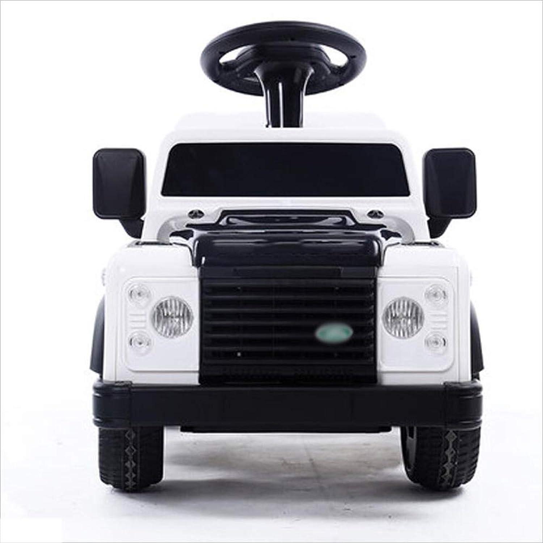 Kinderfernbedienung Elektroauto vier Rder kann Baby Spielzeugauto Blautooth Fernbedienung sitzen (Farbe   Wei)