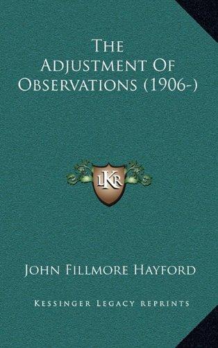 Adjustment Of Observations (1906-)