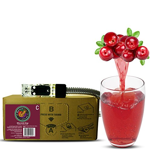 Bar Beverages,Wisconsin Bog Craft Cranberry Juice (3 Gallon Bag-in-Box Syrup Concentrate) - Box Pours 15 Gallons of Cranberry Juice - Use with Bar Gun, Soda Fountain or SodaStream