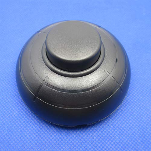 1 Uds, Interruptor de pie para lámpara de pie, encendido y apagado, botón de reinicio de pie redondo a medio camino, interruptor en línea, doble corte, Control doble, 2A 110V 220V black