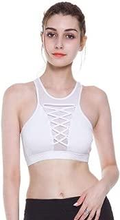 Sports Bra Female Autumn High Collar Mesh Beauty Back Sports Underwear Thin Section Running Shockproof Gathering Stereotype