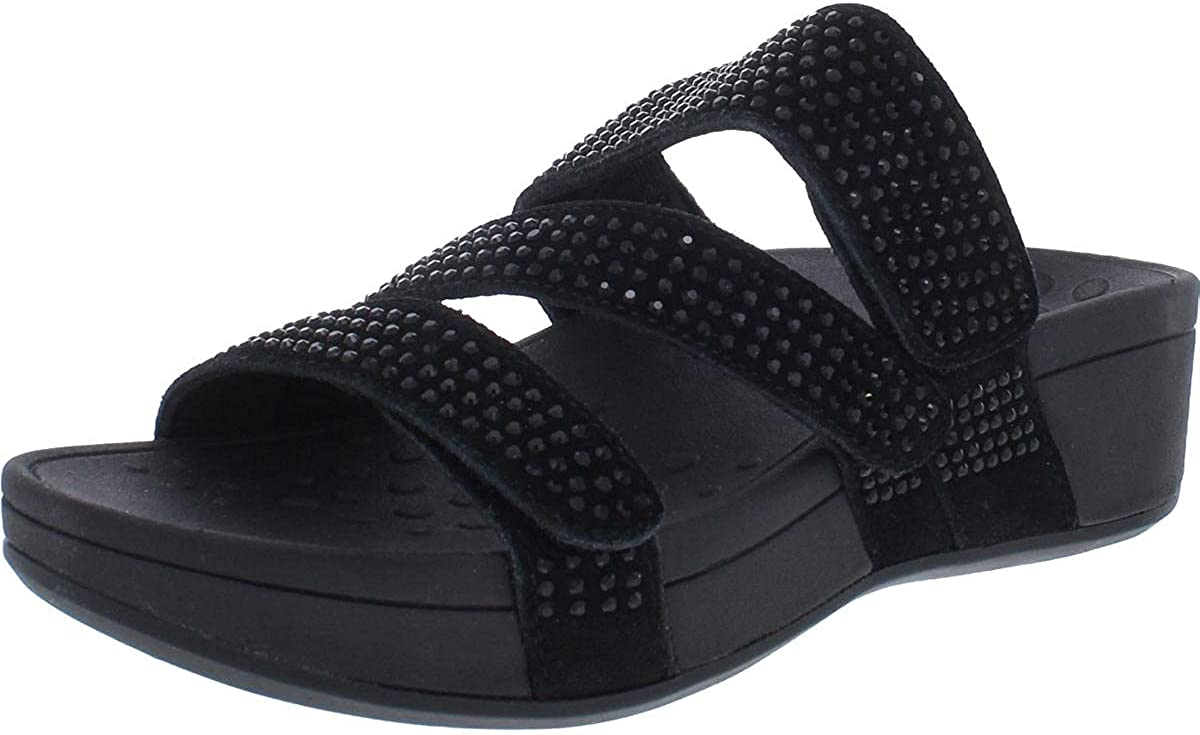 Vionic Women's Pacific Alexis Platform Sandal - Ladies Adjustable Straps Slide Sandals That Include Three-Zone Comfort with Concealed Orthotic Insole Arch Support
