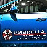 Nbvcxz Resident Evil Umbrella Corporation pegatinas adhesivas personalizadas para puertas laterales de coche (color: 1)