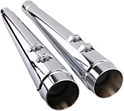Slip On Mufflers Exhaust Pipe - Classic Chrome Megaphone Exhaust Pipe For 2017-2019 Harley Touring, Bagger Models, Dresser, Road King, Electra Glide, Street Glide, Road Glide, Ultra Glide with stock