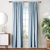 AmazonBasics, Set de cortina de oscurecimiento , Azul humo, 1.32 mts X 2.44 mts