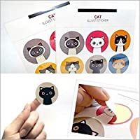 18 Pcs/set Colorful Cat Stickers Cute Child DIY Toy Photo Album Decorative Stickers