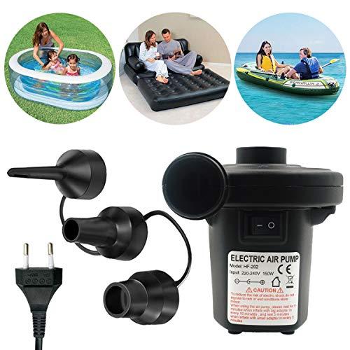 Wesho Elektrische Luftmatratze Victoper Elektrische Pumpe mit 220 - 240 V mit 3 Düsen für aufblasbare Matratze / Camping / Boot / Schwimmring